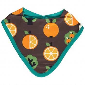 Nicki Dreiecktuch Orangen braun 26x23cm