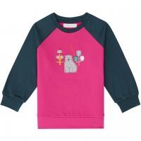 Baby Sweater mit Eisbär-Aufnäher in pink