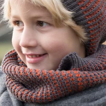 Strick Schlauchschal ab 4 bis 13 Jahren braun