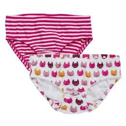 2er Pack Slips Kätzchen gestreift pink