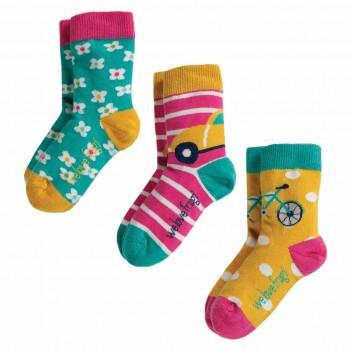 Bio Mädchen Socken 3er Pack Auto