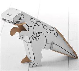 """Dino zum Stecken, malen & spielen """"Stufe einfach"""""""