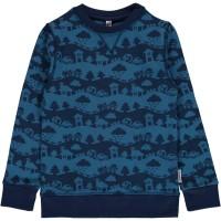 Blaue Landschaft Sweatshirt