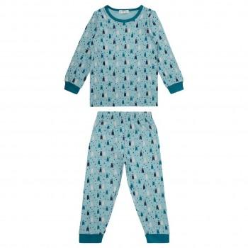 Bio Pyjama Bären in blau