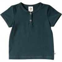 T-Shirt dunkelblau mit Knopfleiste