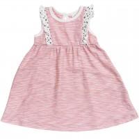 Baby Kleid Sommer ohne Arm rosa geringelt
