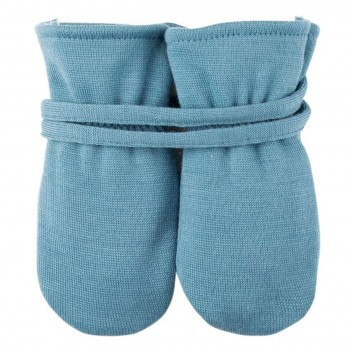 Bio Baby Handschuhe in denim-blau