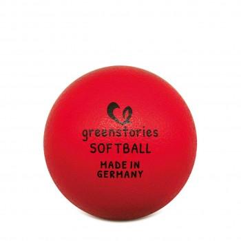 Softball 16 cm rot