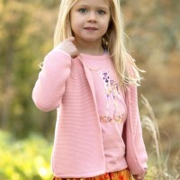 Hochwertige Strickjacke in rosa