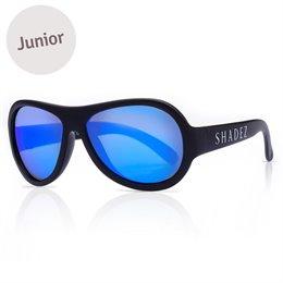 3-7 Jahre flexible Sonnenbrille uni schwarz polarisiert