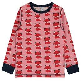 Langarmshirt Mädchen Fuchs rosa