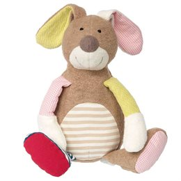 Stofftier Hase Patchwork 30 cm