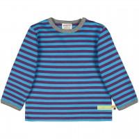 Dickeres Jersey Shirt lila/türkis langarm
