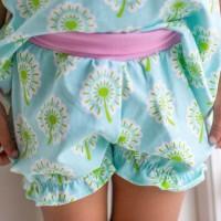 Süsse Blumen Shorts mit Bündchen
