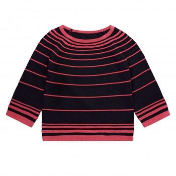 Edler Mädchen Pullover pink-navy