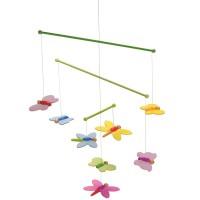3-D Mobile für Wickeltisch od. Bettchen - Schmetterling
