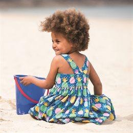 frugi Sommerkleid mit überkreuztem Rückenteil