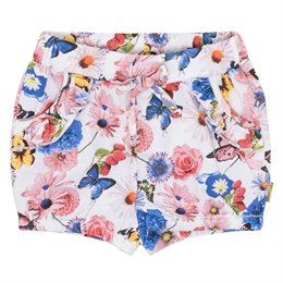 Elastische Mädchen Shorts Blumen-Druck