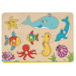 Steckpuzzle Zoo-Tiere - 8 tlg