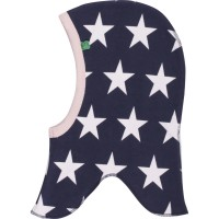 Sternen Mütze mit Halsschutz doppellagig