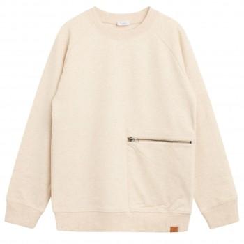 Warmes Sweatshirt Faultier beige meliert