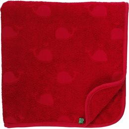 Kinder Bade Handtuch in rot 70x140