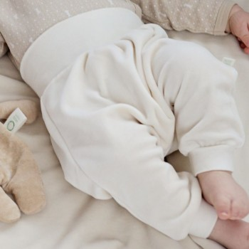 Hose beige Velour Baby