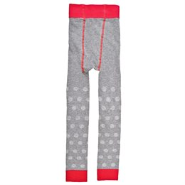 Strickleggings grau rot