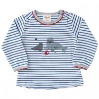 Shirt luftig leicht Mädchen blau gestreift