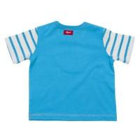 Vorschau: Leichtes Baby Shirt mit Druckknöpfen + Short blau