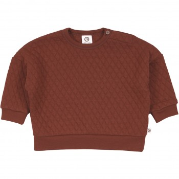 Gestepptes Sweatshirt in rotbraun