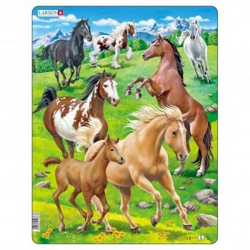 Kinder Puzzle ab 3 Jahre Pferde Tiermotiv