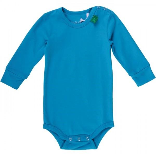 Softer Bio Body mit breiten Armbündchen - blau