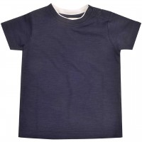 Slub Jersey Uni Shirt kurzarm navy