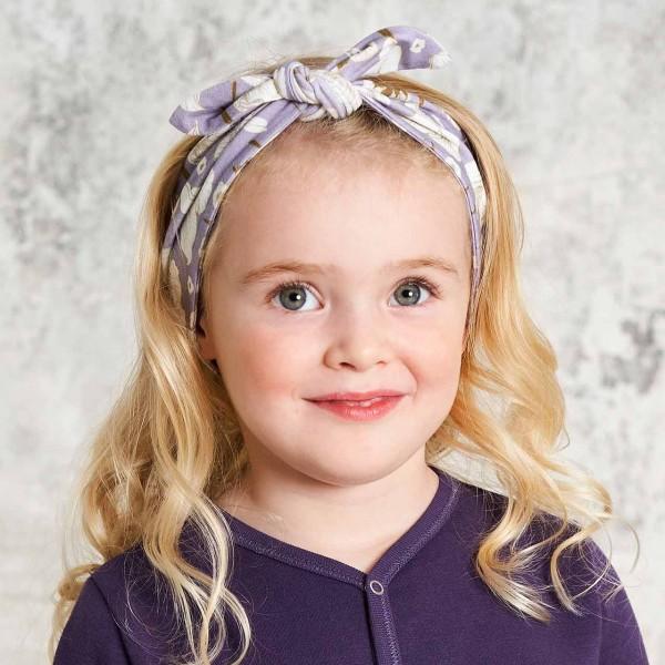 Haarband edel Blumen-Druck lavendel