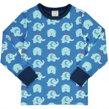 Elefanten Shirt langarm blau