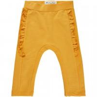 Babyhose Sweat Rüschen gelb