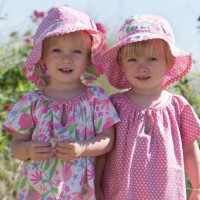 Dehnbare Sommer Wende Mütze 1-3 Jahre