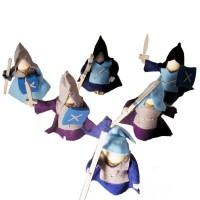 Vorschau: 6 Ritter Holzpuppen zum Biegen blau