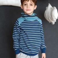 Cooles Sweatshirt mit Kragen petrol