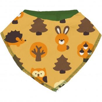 Dreiecktuch Wald Tiere in gelb