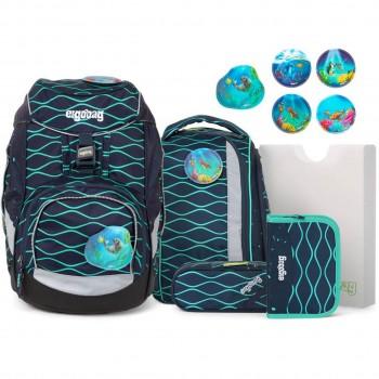 Schulrucksack pack flexibel BlubbBär Meer 6tlg
