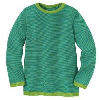 Leichter Wolle Pullover grün