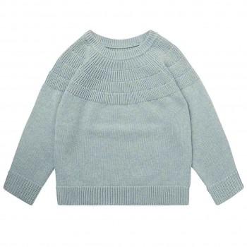 Edler Mädchen Pullover in oliv-grau