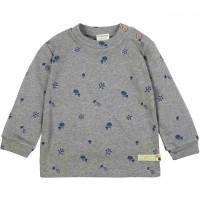 Strukturiertes Shirt Waldmotive grau