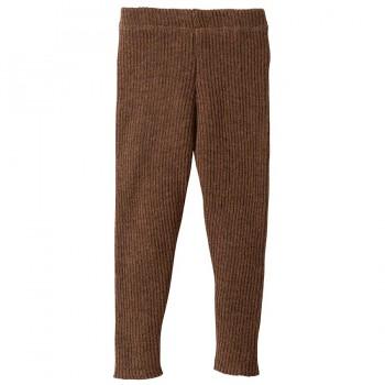 Wolle Leggings warm mitwachsend braun
