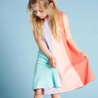 Sommerkleid Ärmellos Streifen-Look