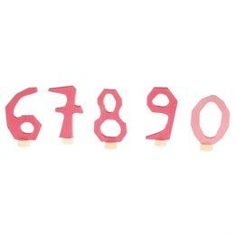 Grimms Zahlenstecker Set 6-9 & 0 rosa