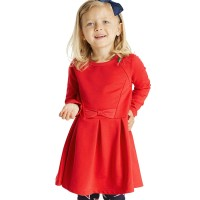 Elegantes Sweatkleid mit Schleife normal rot