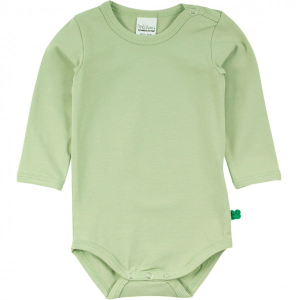 Basic Body langarm in hellem grün